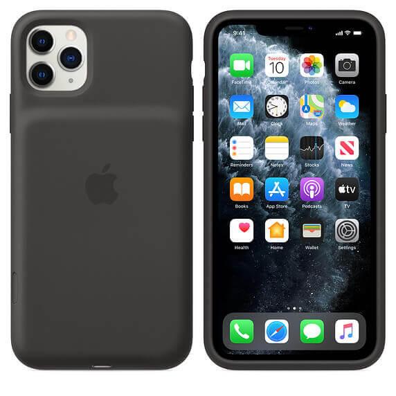 Apple Smart Battery Case — оригинален кейс с вградена батерия за iPhone 11 Pro Max (черен) - 1