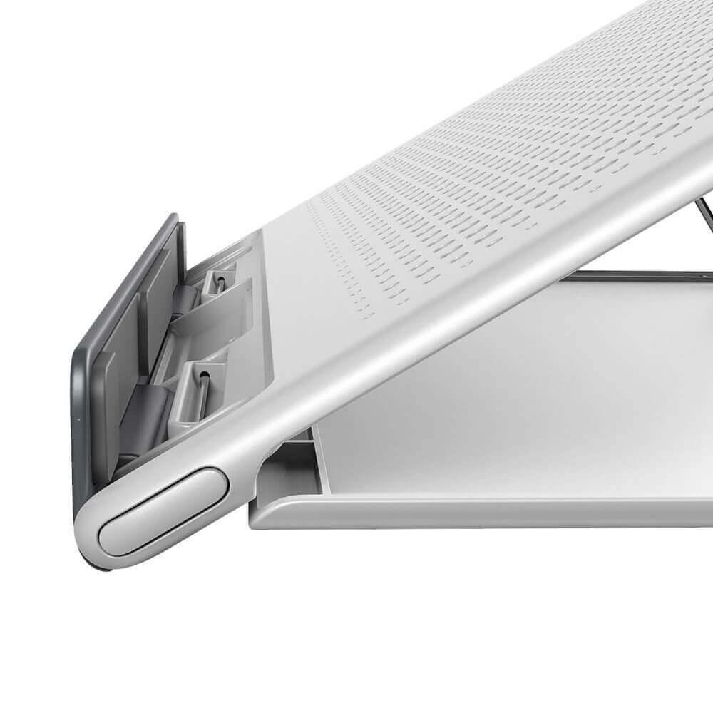 Baseus Foldable Laptop Stand — преносима сгъваема поставка за MacBook и лаптопи (бял) - 3