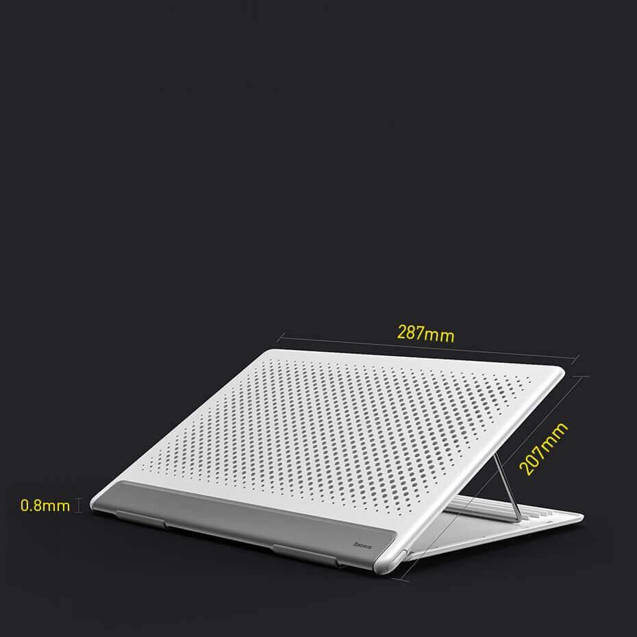 Baseus Foldable Laptop Stand — преносима сгъваема поставка за MacBook и лаптопи (бял) - 5