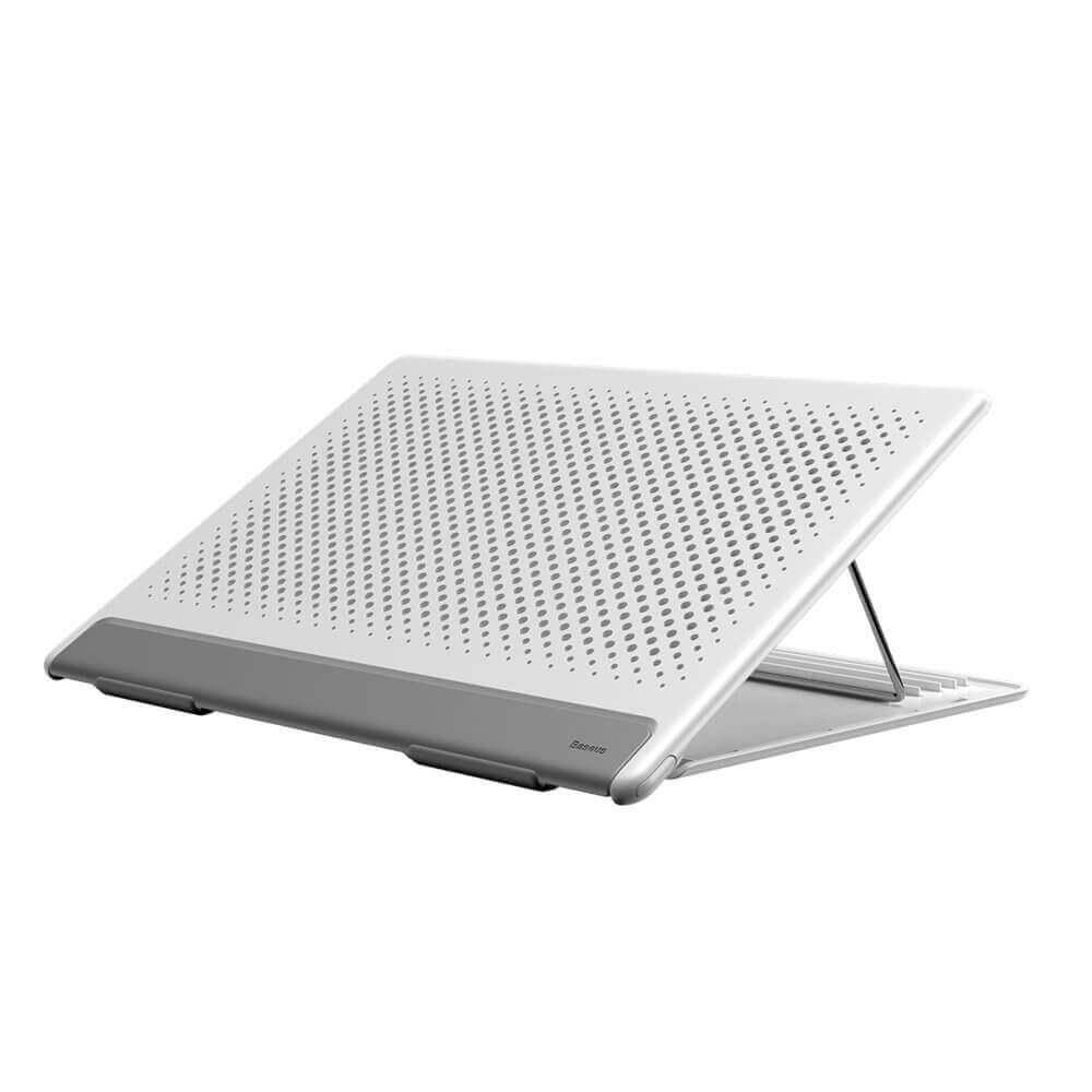Baseus Foldable Laptop Stand — преносима сгъваема поставка за MacBook и лаптопи (бял) - 1