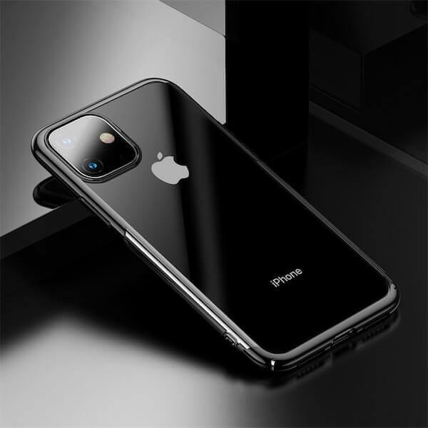 Baseus Glitter Case — поликарбонатов кейс за iPhone 11 (черен) - 4