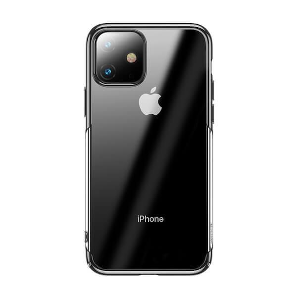 Baseus Glitter Case — поликарбонатов кейс за iPhone 11 (черен) - 1