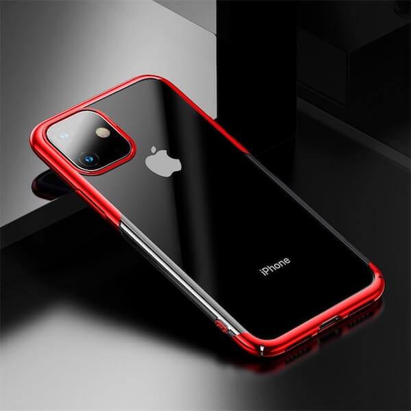 Baseus Glitter Case — поликарбонатов кейс за iPhone 11 (червен) - 3
