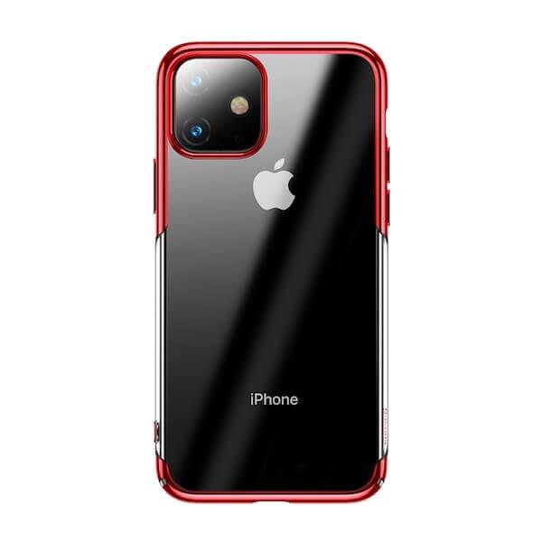 Baseus Glitter Case — поликарбонатов кейс за iPhone 11 (червен) - 1