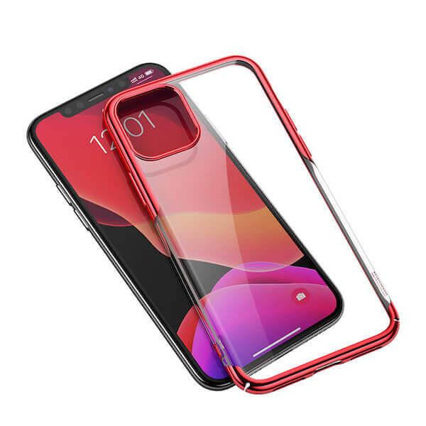 Baseus Glitter Case — поликарбонатов кейс за iPhone 11 (червен) - 2