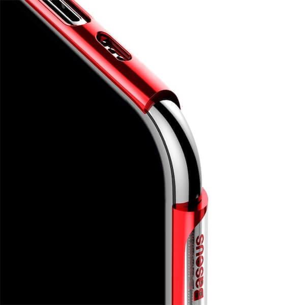 Baseus Glitter Case — поликарбонатов кейс за iPhone 11 Pro (червен) - 3