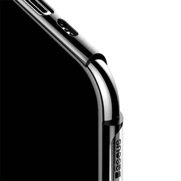 Baseus Glitter Case — поликарбонатов кейс за iPhone 11 Pro Max (черен) - 3