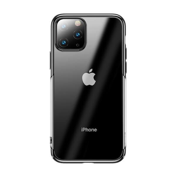 Baseus Glitter Case — поликарбонатов кейс за iPhone 11 Pro Max (черен) - 1