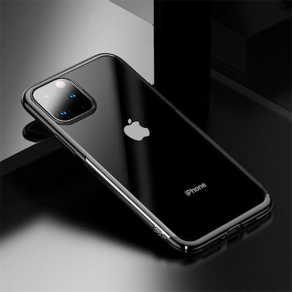 Baseus Glitter Case — поликарбонатов кейс за iPhone 11 Pro Max (черен) - 4