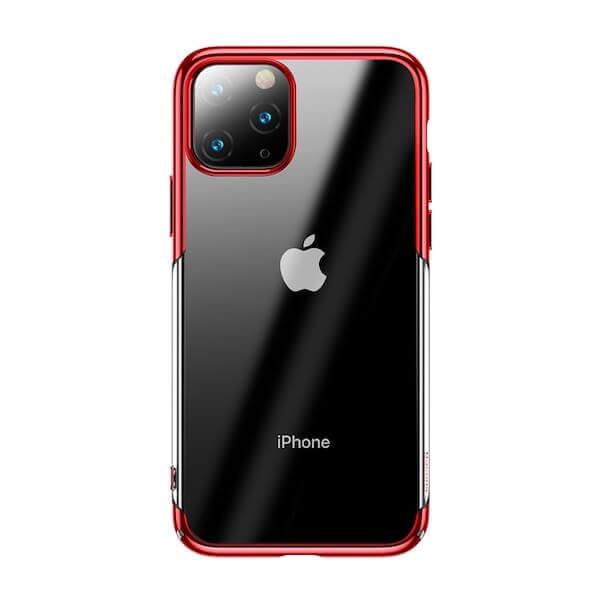 Baseus Glitter Case — поликарбонатов кейс за iPhone 11 Pro Max (червен) - 1