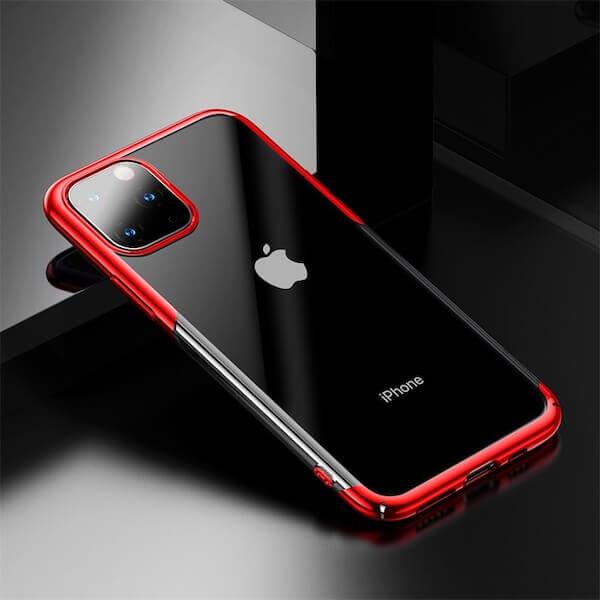 Baseus Glitter Case — поликарбонатов кейс за iPhone 11 Pro Max (червен) - 4