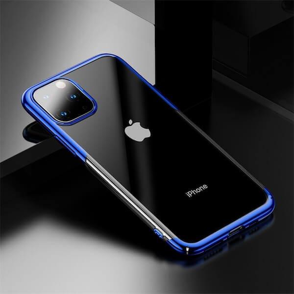 Baseus Glitter Case — поликарбонатов кейс за iPhone 11 Pro Max (син) - 4