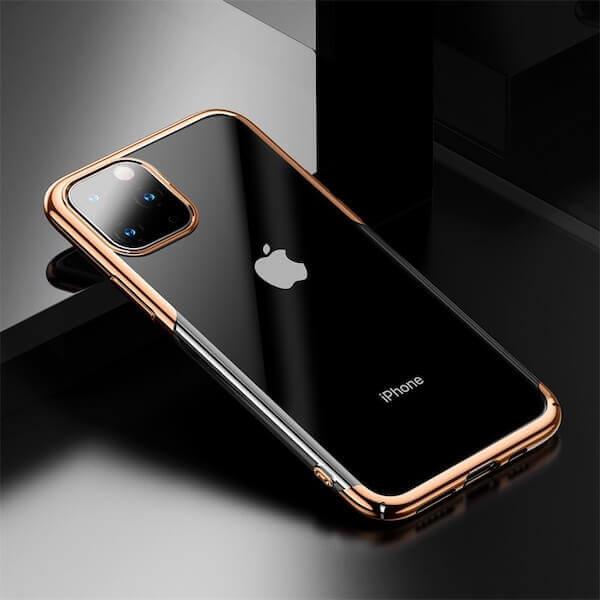 Baseus Glitter Case — поликарбонатов кейс за iPhone 11 Pro (златист) - 4