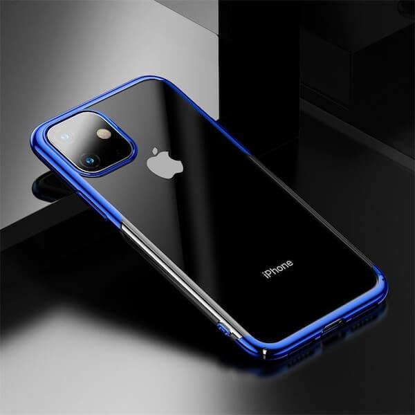 Baseus Glitter Case — поликарбонатов кейс за iPhone 11 (син) - 4