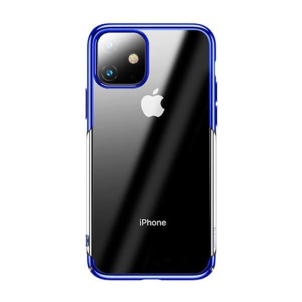 Baseus Glitter Case — поликарбонатов кейс за iPhone 11 (син) - 1