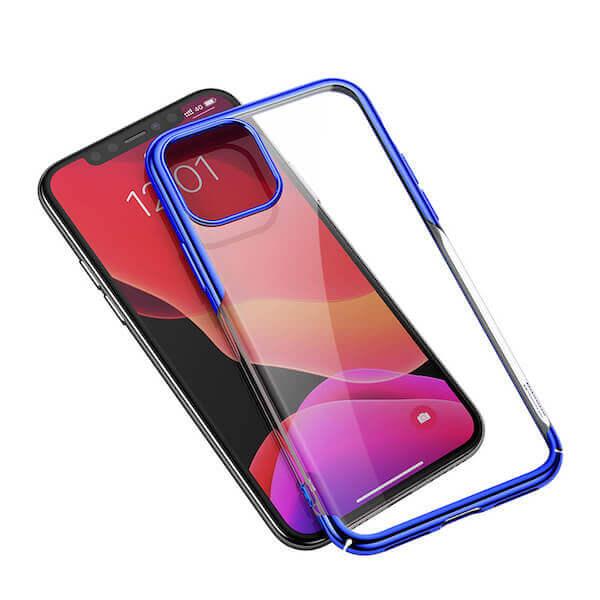 Baseus Glitter Case — поликарбонатов кейс за iPhone 11 (син) - 3
