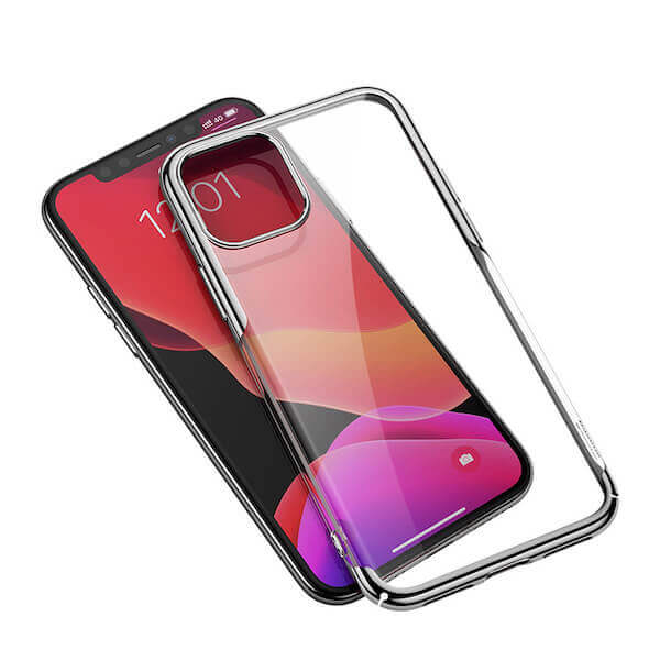Baseus Glitter Case — поликарбонатов кейс за iPhone 11 (сребрист) - 3