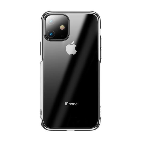 Baseus Glitter Case — поликарбонатов кейс за iPhone 11 (сребрист) - 1