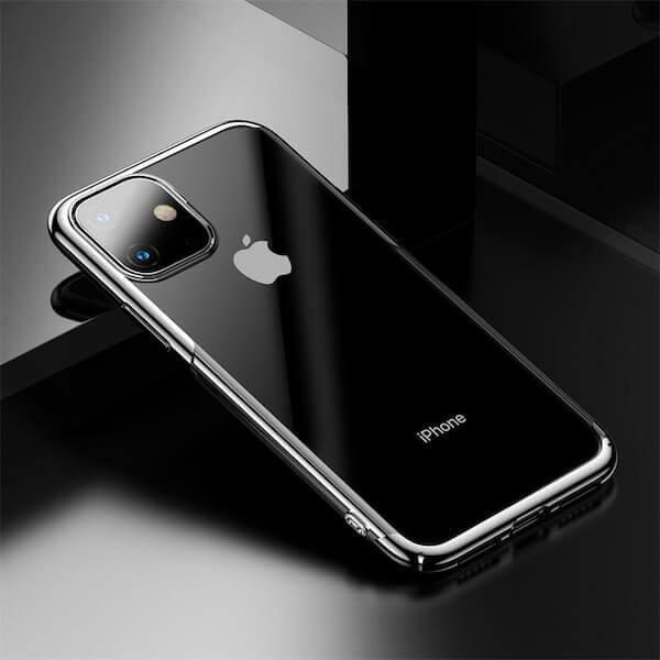 Baseus Glitter Case — поликарбонатов кейс за iPhone 11 (сребрист) - 4