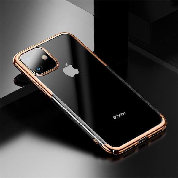 Baseus Glitter Case — поликарбонатов кейс за iPhone 11 (златист) - 4