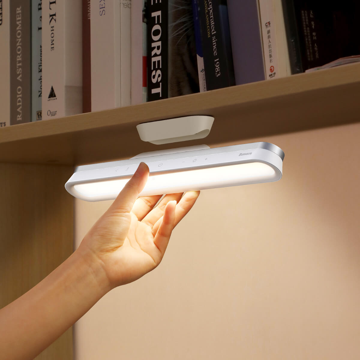 Baseus Magnetic Stepless Dimming Desk Lamp Pro - магнитна настолна LED лампа (бял) - 2