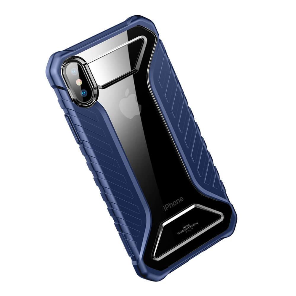Baseus Michelin Case — удароустойчив хибриден кейс за iPhone XR (син) - 3