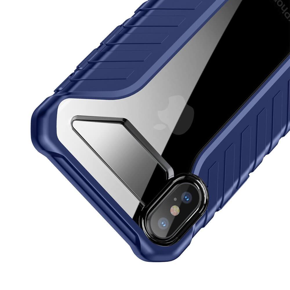 Baseus Michelin Case — удароустойчив хибриден кейс за iPhone XR (син) - 5