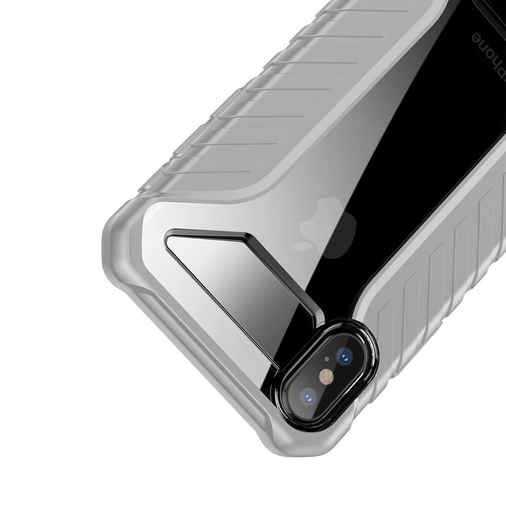 Baseus Michelin Case — удароустойчив хибриден кейс за iPhone XR (сив) - 4