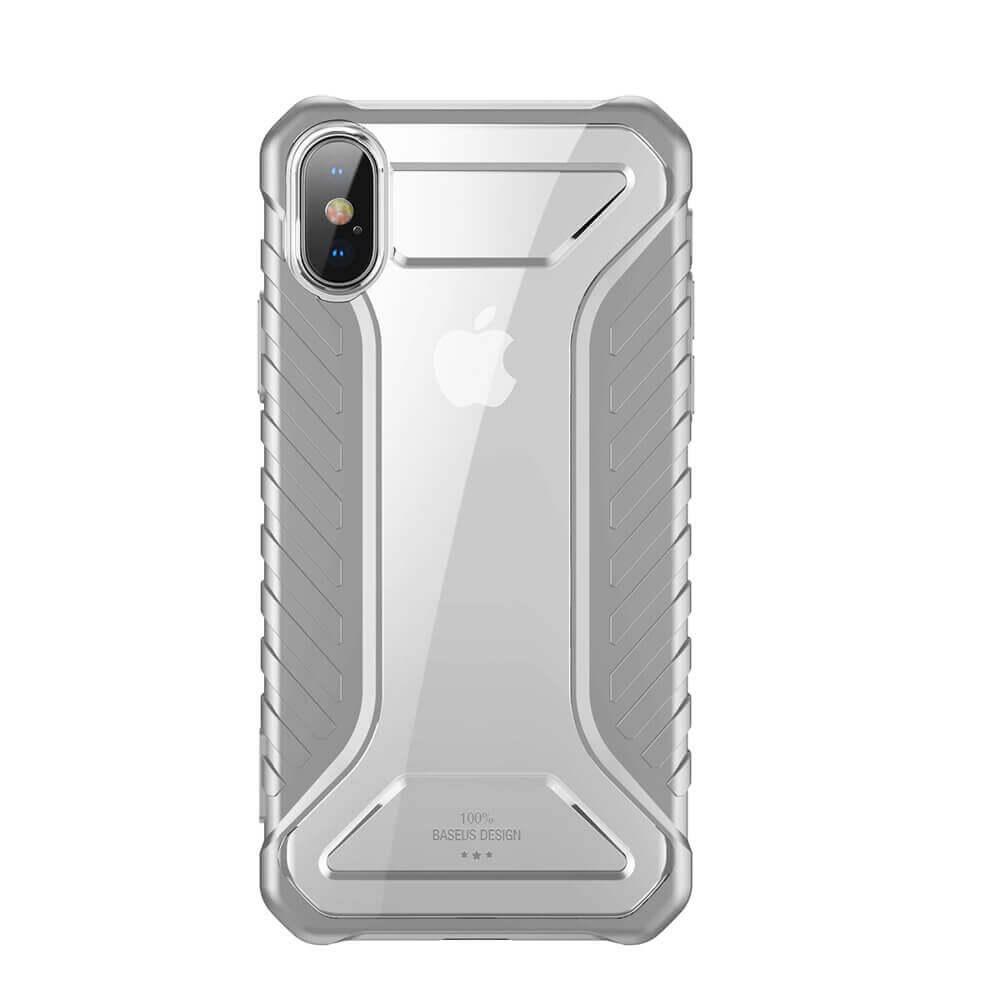 Baseus Michelin Case — удароустойчив хибриден кейс за iPhone XS, iPhone X (сив) - 2