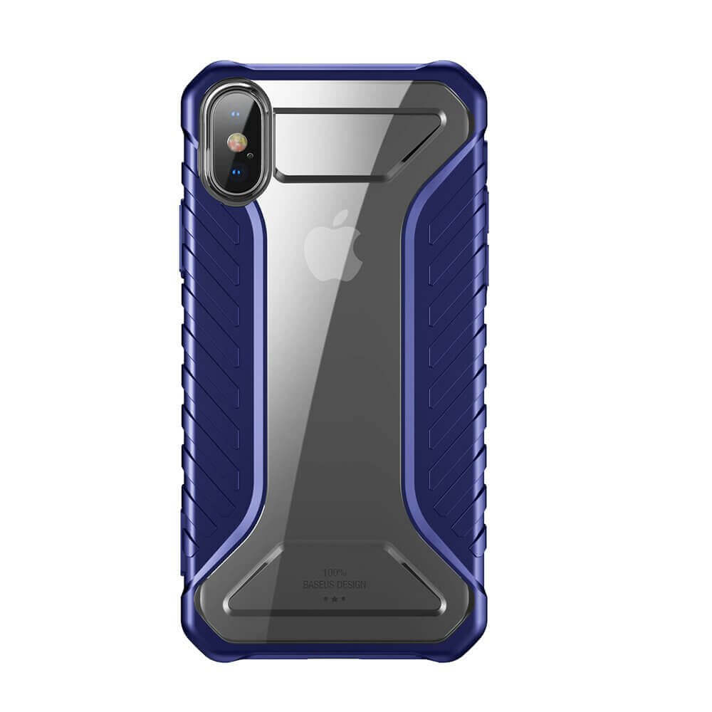 Baseus Michelin Case — удароустойчив хибриден кейс за iPhone XS Max (син) - 1