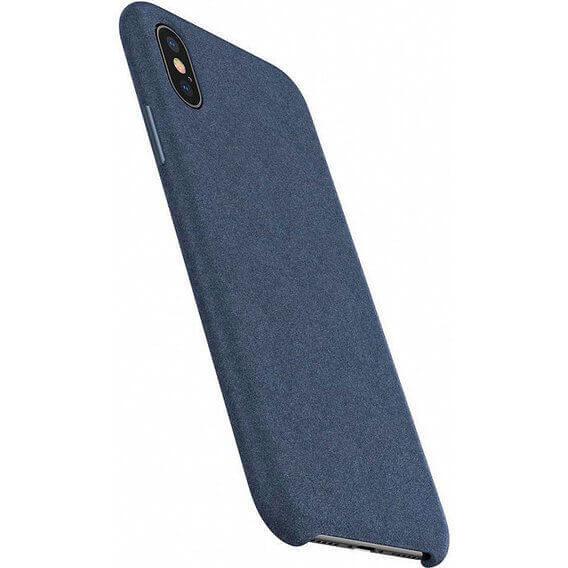 Baseus Original Super Fiber Case — велурен кейс за iPhone XS Max (син) - 5