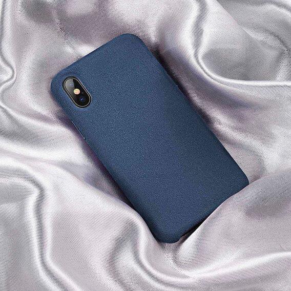 Baseus Original Super Fiber Case — велурен кейс за iPhone XS Max (син) - 4