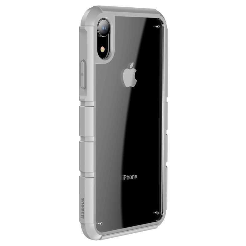 Baseus Panzer Case — удароустойчив хибриден кейс за iPhone XR (сив) - 2