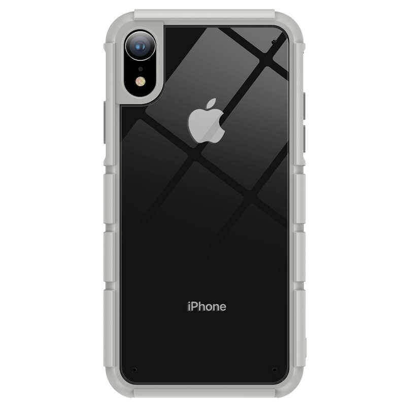 Baseus Panzer Case — удароустойчив хибриден кейс за iPhone XR (сив) - 1