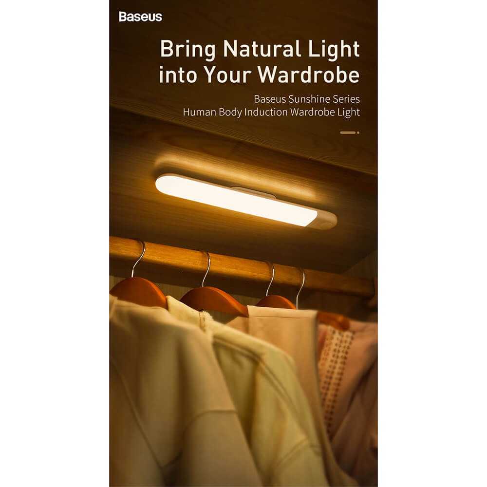 Baseus Sunshine Series Human Body Induction Wardrobe Light — нощна LED лампа (бяла светлина) - 2