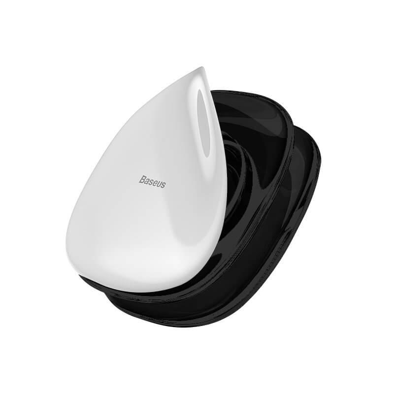 Baseus Universal Gel Pad Smartphone Mount Holder & Cable Organiser — лепяща се силиконова поставка за гладки повърхности за мобилни телефони (черен) - 1