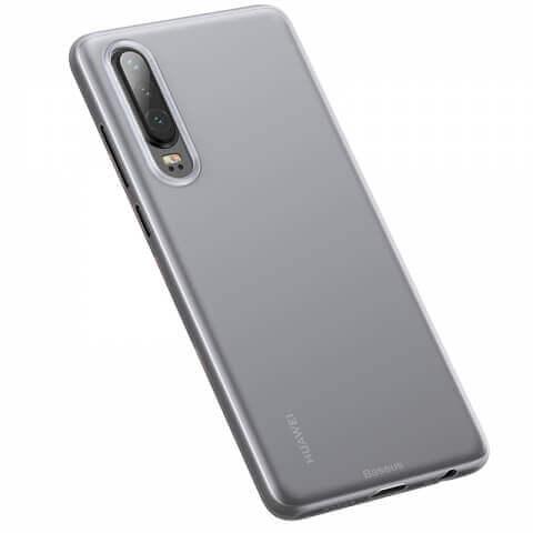 Baseus Wing case — тънък полипропиленов кейс (0.45 mm) за Huawei P30 (бял) - 5