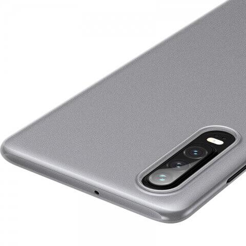 Baseus Wing case — тънък полипропиленов кейс (0.45 mm) за Huawei P30 (бял) - 4