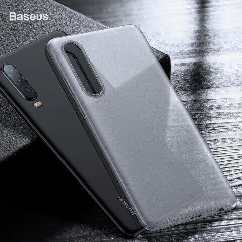 Baseus Wing case — тънък полипропиленов кейс (0.45 mm) за Huawei P30 (бял) - 2