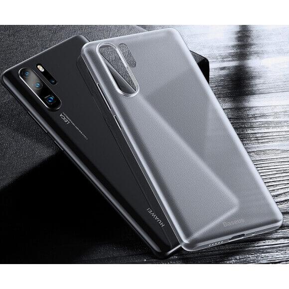 Baseus Wing case — тънък полипропиленов кейс (0.45 mm) за Huawei P30 Pro (бял) - 2