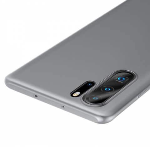 Baseus Wing case — тънък полипропиленов кейс (0.45 mm) за Huawei P30 Pro (бял) - 3