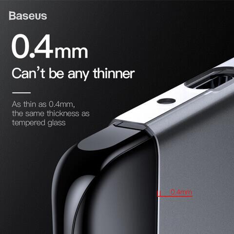 Baseus Wing case — тънък полипропиленов кейс (0.45 mm) за Huawei P30 Pro (бял) - 1