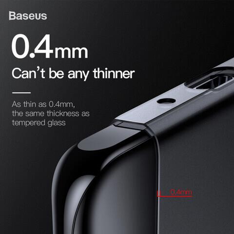 Baseus Wing case — тънък полипропиленов кейс (0.45 mm) за Huawei P30 Pro (сив) - 1