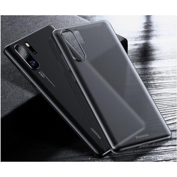 Baseus Wing case — тънък полипропиленов кейс (0.45 mm) за Huawei P30 Pro (сив) - 5
