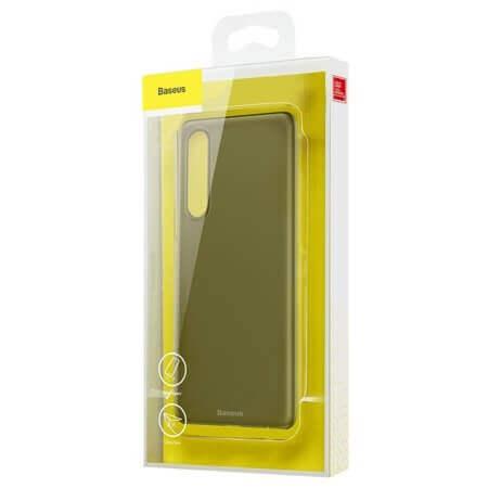 Baseus Wing case — тънък полипропиленов кейс (0.45 mm) за Huawei P30 (сив) - 5