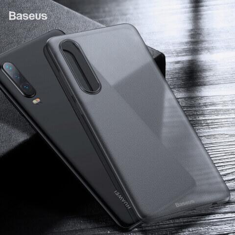 Baseus Wing case — тънък полипропиленов кейс (0.45 mm) за Huawei P30 (сив) - 3