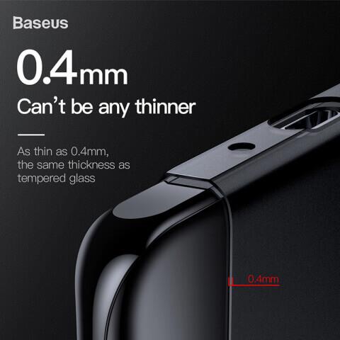Baseus Wing case — тънък полипропиленов кейс (0.45 mm) за Huawei P30 (сив) - 1