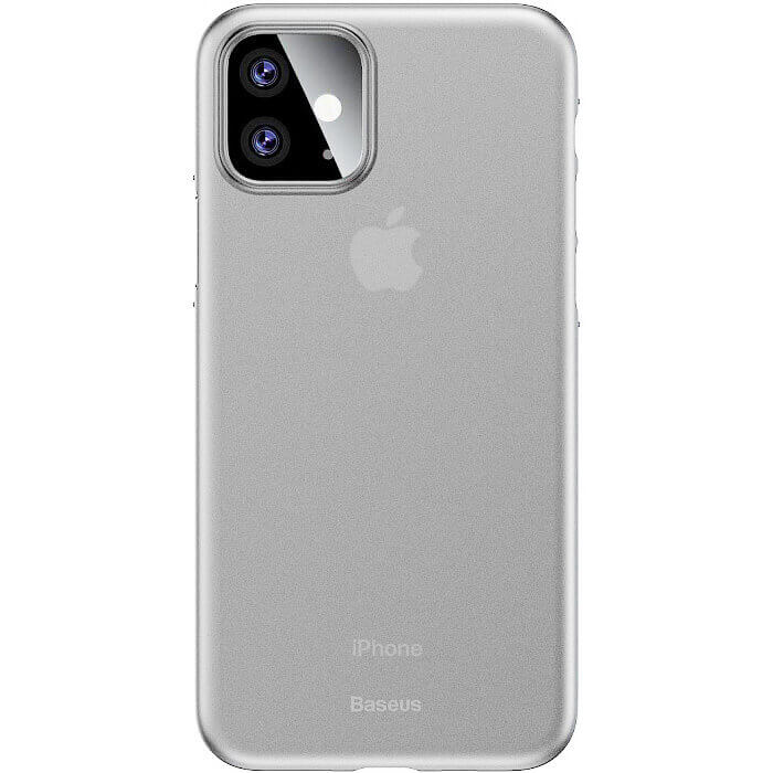 Baseus Wing case — тънък полипропиленов кейс (0.45 mm) за iPhone 11 (бял) - 1