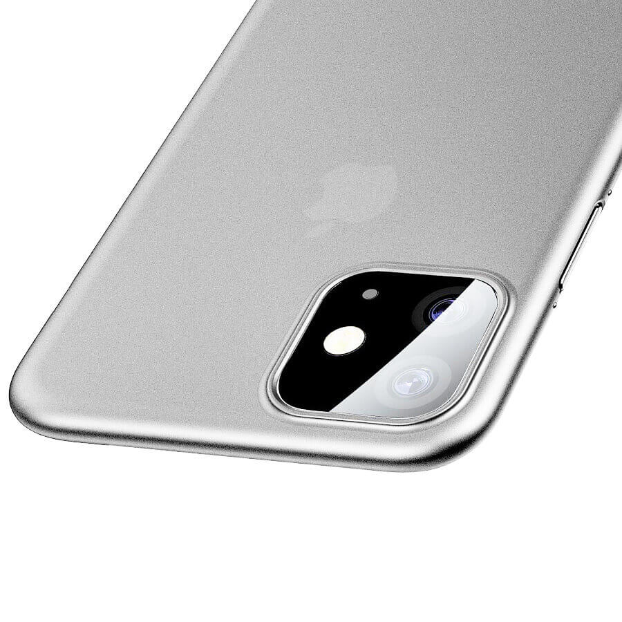Baseus Wing case — тънък полипропиленов кейс (0.45 mm) за iPhone 11 (бял) - 4