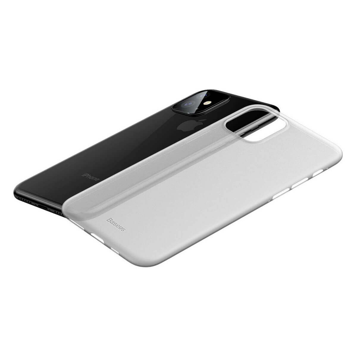 Baseus Wing case — тънък полипропиленов кейс (0.45 mm) за iPhone 11 (бял) - 3